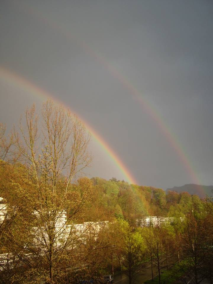 Double rainbow at Lucerne